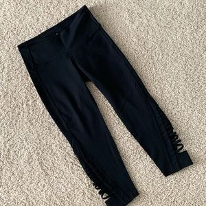 Athleta Crop Tights with side detail